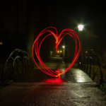 Corazón con luz